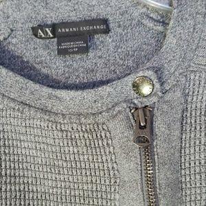 Armani Exchange zip up long sleeve thermal sweater